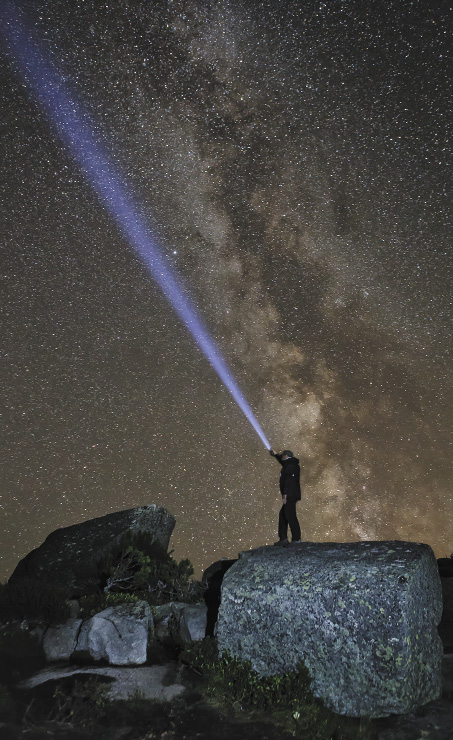 Shooting photos at night with a torch against the backdrop of the Milky Way has become a hugely popular technique with photographers here.