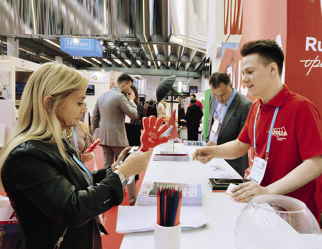 More than 600 business meetings and discussions took place at the Russian stand at IMEX.