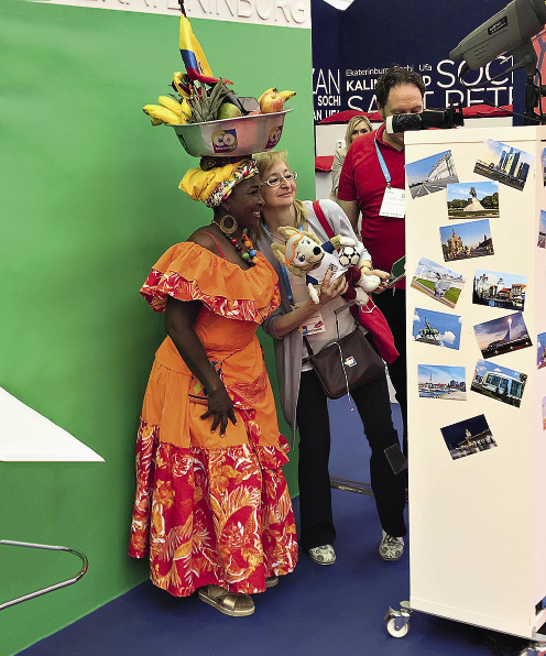 Photos from FIFA Russia 2018 at the Russian stand at IMEX.