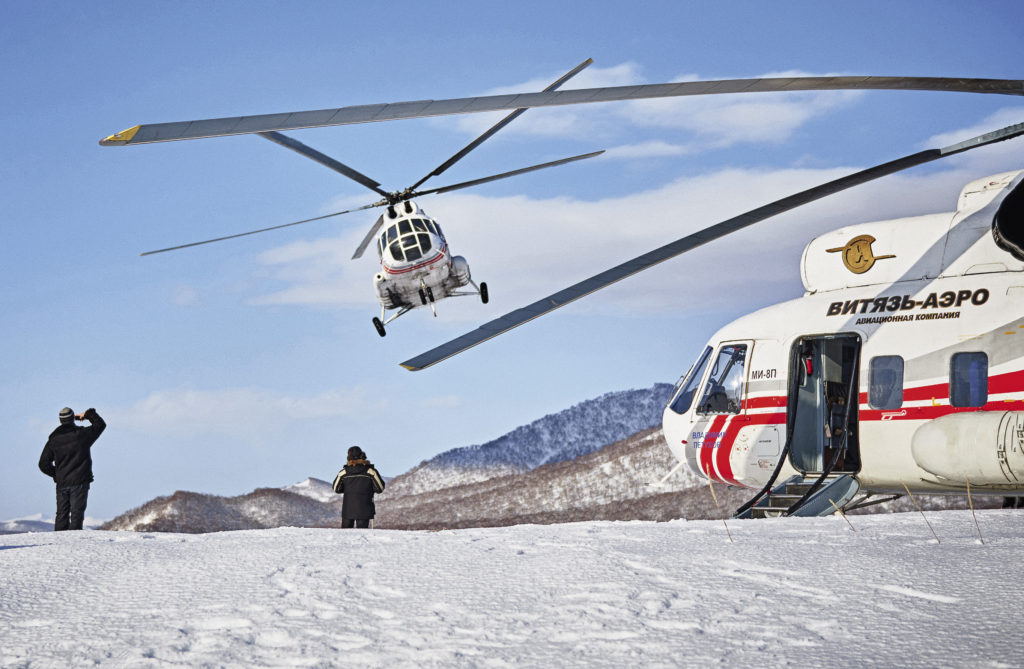 Vityaz- Aero has a monopoly on helicopter flights on the peninsula, with 30 Mi-8 helicopters and its own heliport.