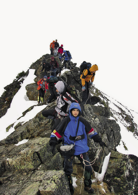 The ascent of Cherskiy Peak is not considered difficult, and visitors can complete the roundtrip climb in just a few hours.
