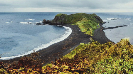 Cape Evstafy is 51 meters tall.