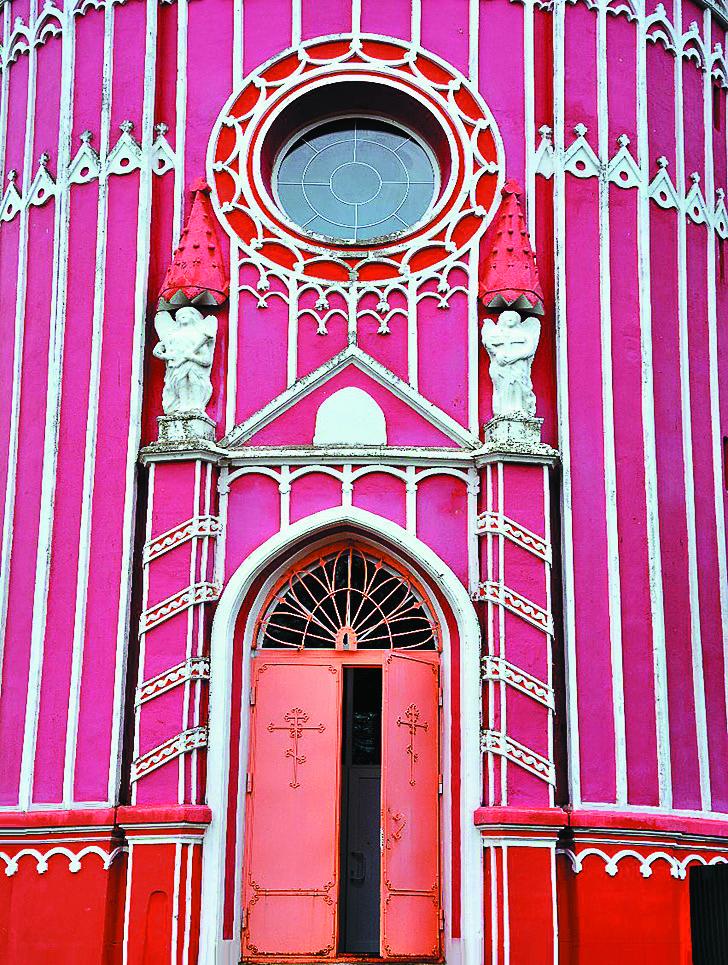 Preobrazhensky Church, built in the pseudo-Gothic style.