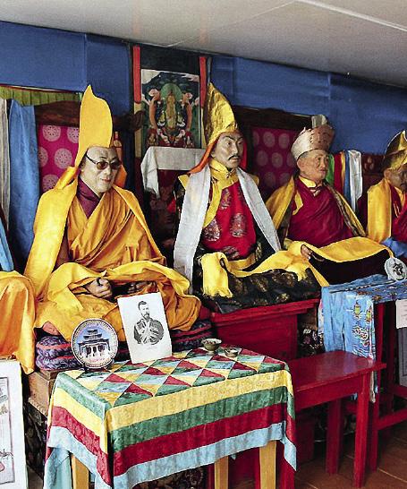 Before the war, the Atsagatsky monastery housed a Tibetan medical centre.
